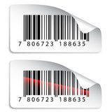 Barcode stickers vector illustration