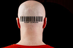 Barcode Stop stress Stock Photos
