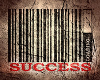 Barcode with success text and loading bar Stock Photography