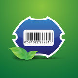 Barcode tag label nature Royalty Free Stock Image