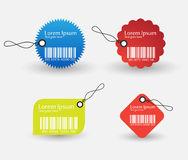 Barcode tag set. In different shapes (Vector EPS10 vector illustration