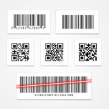 Barcode Tag or Sticker Set. Vector. Barcode Tag or Sticker Set.  Vector illustration Stock Photos