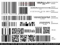 Barcode templates vector set Royalty Free Stock Photos