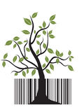 Barcode tree Royalty Free Stock Photography