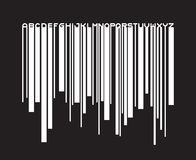 Barcode typeface paint flow font Royalty Free Stock Photos