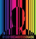 Barcode und Mann 7 lizenzfreie abbildung