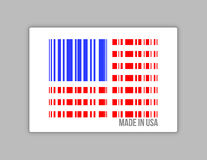Barcode USA. Gjort i USA-illustrationdesign Arkivbilder