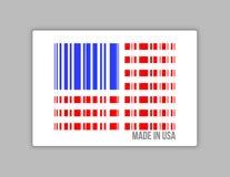 Barcode usa. Robić w usa ilustracyjnym projekcie Obrazy Stock