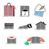 Barcode ustalone ikony Fotografia Royalty Free