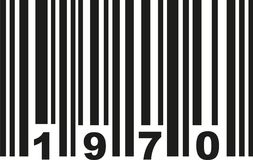 Barcode 1970 vector. Barcode 1970 birthday vector icon Stock Photography