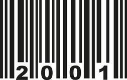 Barcode 2001 vector. Barcode 2001 birthday vector icon Royalty Free Stock Photos