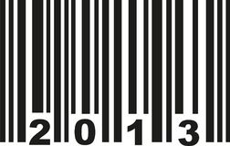 Barcode 2013 vector. Barcode 2013 birthday vector icon Stock Images
