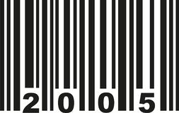 Barcode 2005 vector. Barcode 2005 birthday vector icon Royalty Free Stock Images