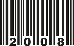 Barcode 2008 vector. Barcode 2008 birthday vector icon royalty free illustration