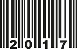 Barcode 2017 vector. Barcode 2017 birthday vector icon Royalty Free Stock Images