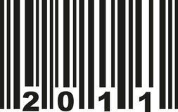 Barcode 2011 vector. Barcode 2011 birthday vector icon Stock Illustration