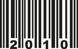 Barcode 2010 vector. Barcode 2010 birthday vector icon Vector Illustration