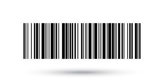 Barcode vector icon or bar code scan label product price tag Stock Photo
