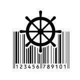Barcode. Vector illustration. Bar code. Vector illustration. Eps 10. barcode Royalty Free Stock Image