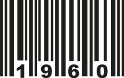 Barcode 1960 vector vector. Barcode 1960 birthday vector icon royalty free illustration