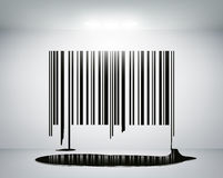 Barcode on the wall Royalty Free Stock Photo