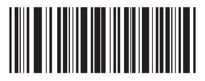 Barcode wektoru ikona Prętowy kod dla sieć projekta button ręce s push odizolowana początku ilustracyjna kobieta ilustracja wektor