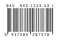 Barcode on white background Royalty Free Stock Image
