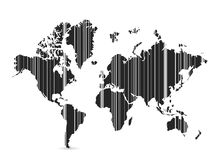 Barcode world map illustration design Royalty Free Stock Photography