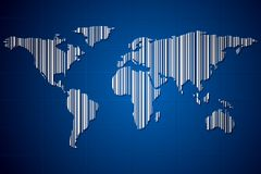 Barcoded Earth Royalty Free Stock Photography