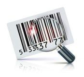 barcodeetikett Arkivbild