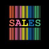 barcodefärgförsäljningar Royaltyfri Fotografi