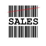 barcodeförsäljningar Arkivbild