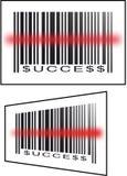 barcodeframgång Fotografering för Bildbyråer