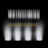 barcodeframgång royaltyfri illustrationer