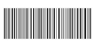 Barcoden med svart fodrar på en vit bakgrund Royaltyfri Bild