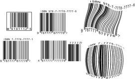 Barcodes. Set of different barcodes (ISBN, EAN, MS Stock Photo