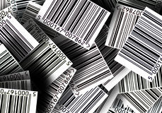 Barcodes background royalty free illustration