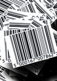 Barcodes background. A background of commercial barcodes tags royalty free stock photos