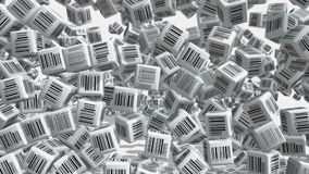 Barcodes stock video footage