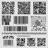 Barcodes and qr codes royalty free illustration