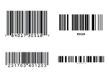 Barcodes vector Stock Images