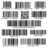 Barcodes vector set Stock Photography
