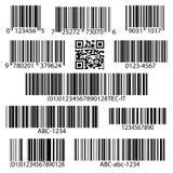 Barcodes vector set vector illustration