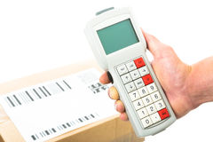 Barcodescannen Lizenzfreie Stockbilder
