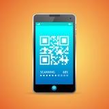 Barcodescanner-Telefon Vektor Stockfotografie