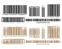 barcodetryck royaltyfri illustrationer
