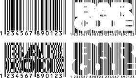 Barcodevarianten Stockfotografie