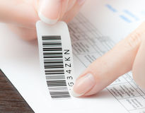 Barcoding invoice Royalty Free Stock Image