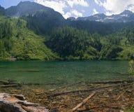 barcoitaly lago Royaltyfri Foto