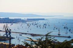 Barcolana, regata tradicional internacional 14 10 2018 Trieste, Itália imagem de stock